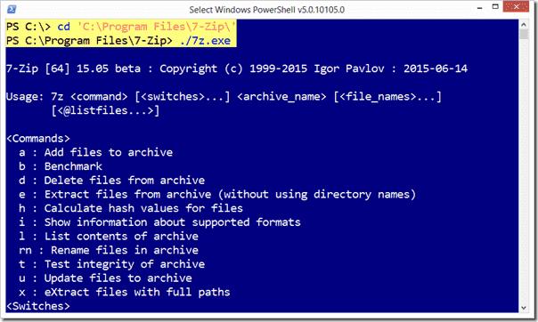 PowerShell can run external tools