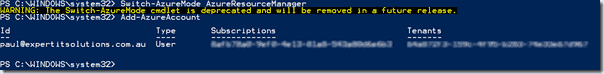 Switching to ARM mode in PowerShell