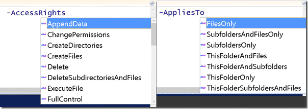 The PowerShell ISE makes it easier to visualize enumerations