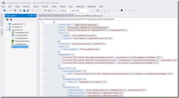 VM template in Visual Studio