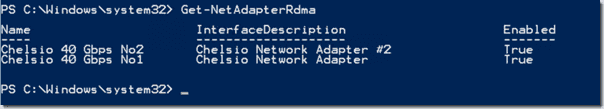 Checking RDMA status in PowerShell
