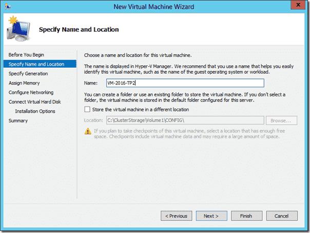 Creating a high availability VM