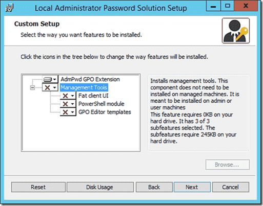 Local Administrator Password Solution Setup - Manual install of Group Policy CSE