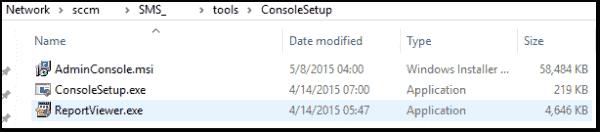 The SCCM 2012 Management Console Installer