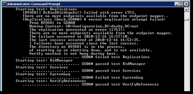 windows server 2003 dcdiag  yahoo
