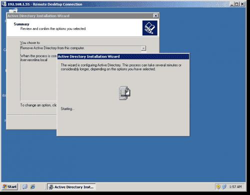 Demote domain controlers