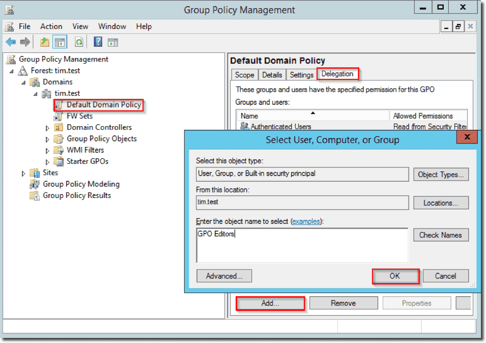 Set up Group Policy delegation – 4sysops