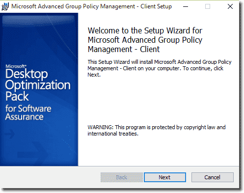 Installing the AGPM 4.0 SP3 Client