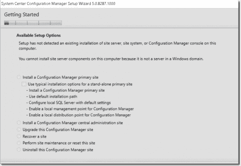 System Center Configuration Manager 2016 TP3