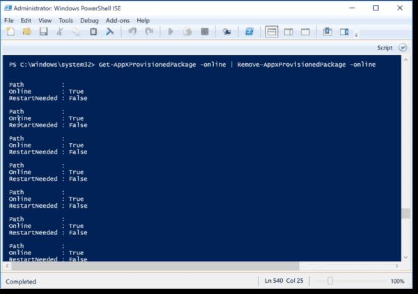 Unprovision all Windows 10 apps