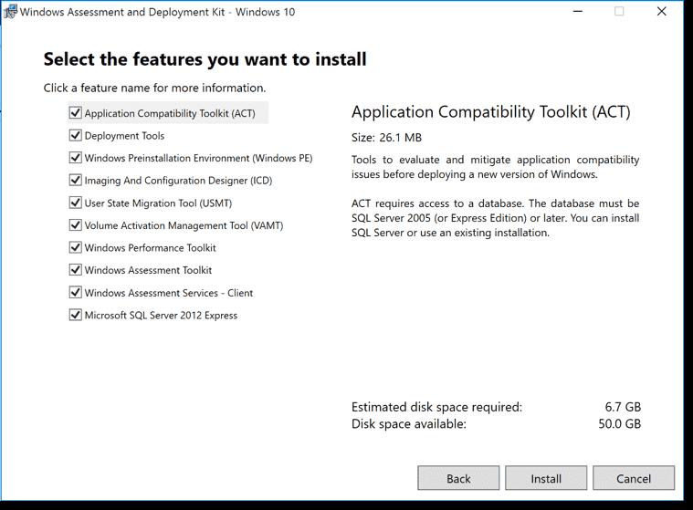 Windows 10 tools: MDT 2013 Update 1, Windows ADK for Windows