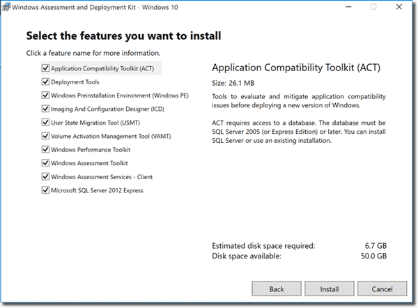 Windows ADK tools