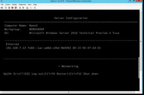 How to install Nano Server, step by step