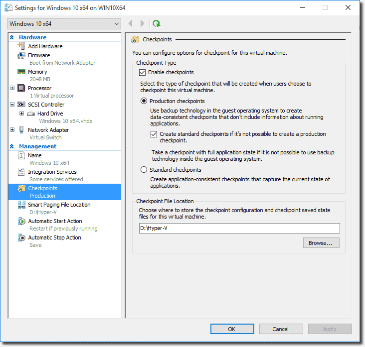 Using PowerShell Direct and other new features in Hyper-V on