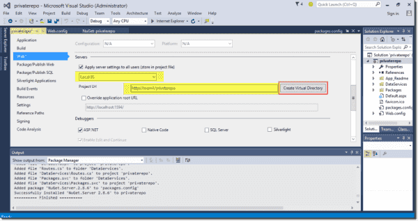 Customizing our Web applicatoin's IIS server settings