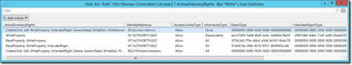 Displaying a table of AD attributes with Out-GridView