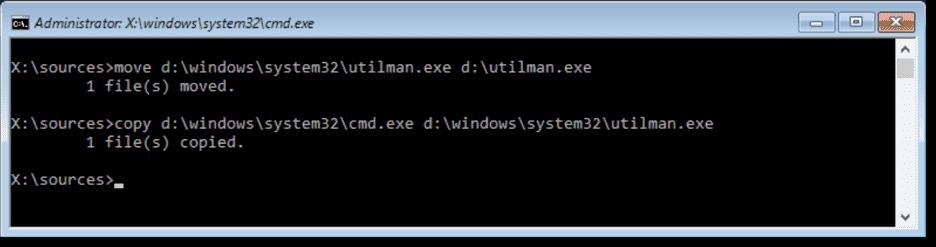 open command prompt in windows 10 login screen