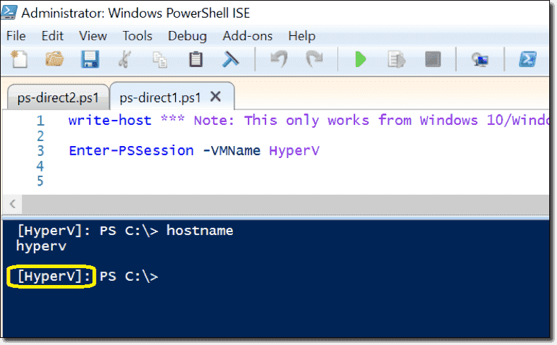 PowerShell Direct – Manage VMs from the Hyper-V host – 4sysops
