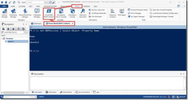 It's a great thing that Devolution added full PowerShell support to Remote