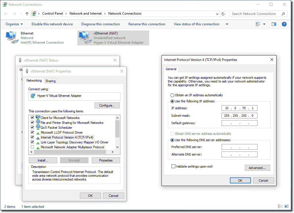 Native NAT in Windows 10 Hyper-V using a NAT virtual switch – 4sysops