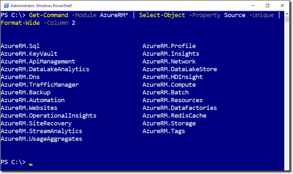 The new Azure Resource Manager APIs make PowerShell a bit more cumbersome to use
