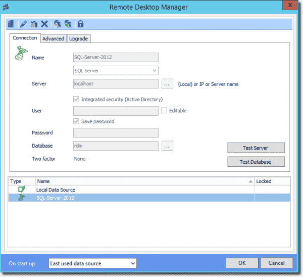 We can add, modify, and remove multiple data sources in RDM Enterprise Edition