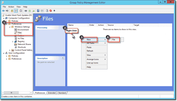 Create a new Files Group Policy Preference