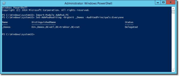 Enable auditing of password access in Active Directory with Set-AdmPwdAuditing