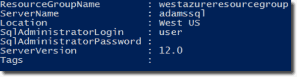 Getting the name of your Azure SQL Server