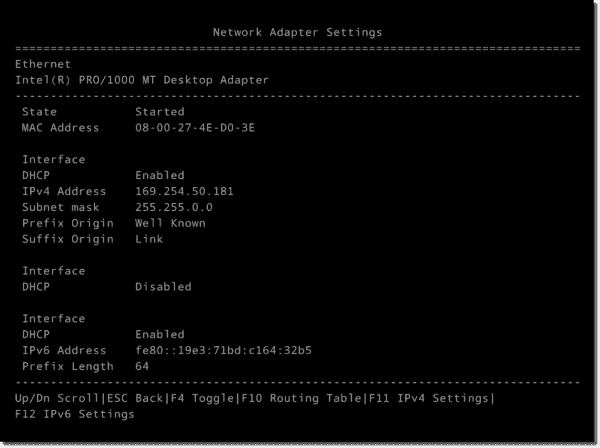 Network adapter settings in Nano Server