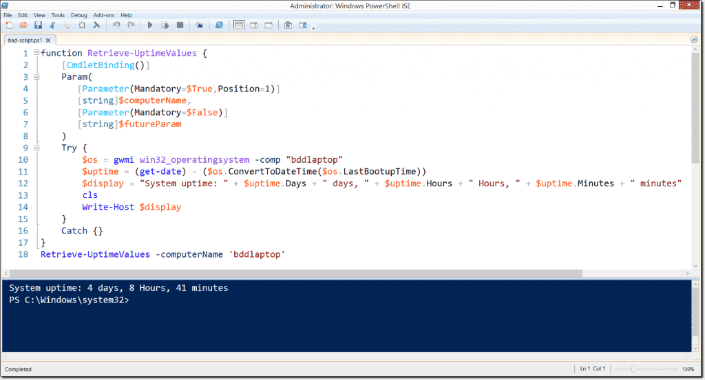 PowerShell Script Analyzer – A free static code analysis
