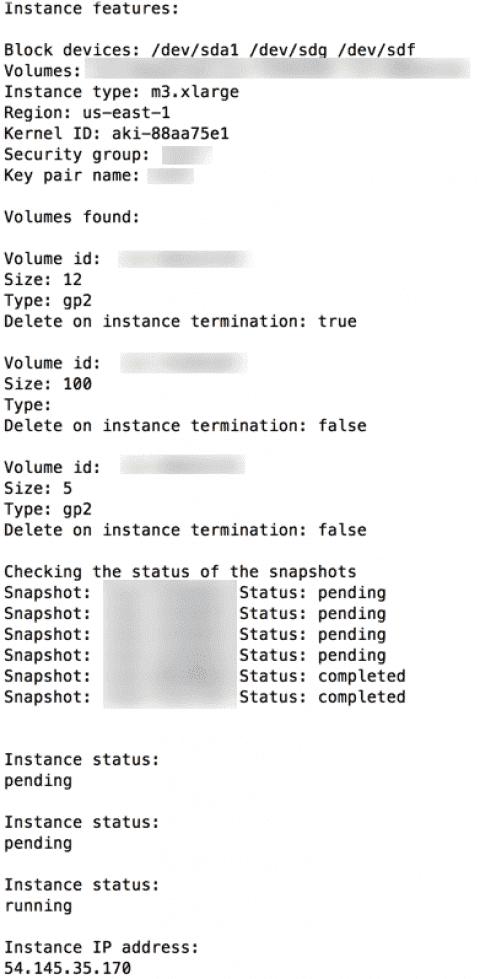 Clone an EC2 instance with a bash script