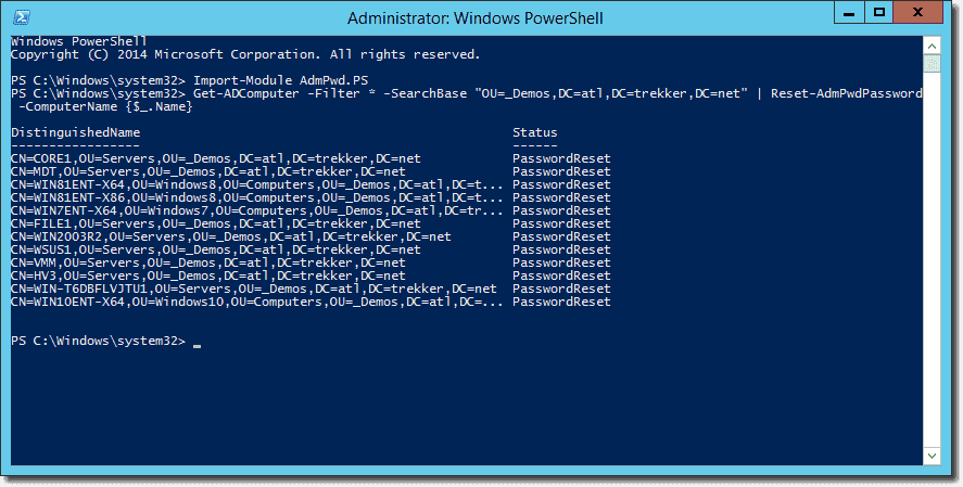 windows 7 default local administrator password