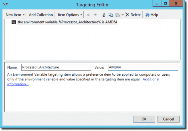 Use Item-level targeting to target the file to a x64 system