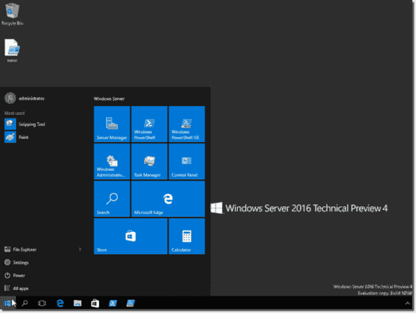 Windows Server 2016-it looks like Windows 10