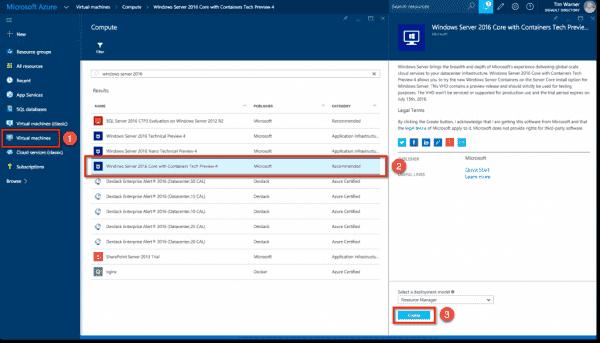 Azure makes it convenient to deploy container-aware Windows Server instances