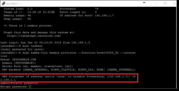 DNS Forwarder IP Address