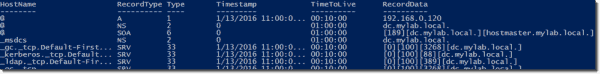 Reading DNS records with PowerShell
