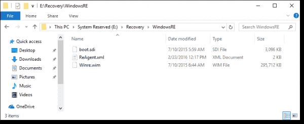 The Windows RE .wim file