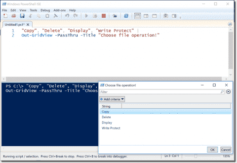 User input in PowerShell – Read-Host, mandatory = $true, OutGridView