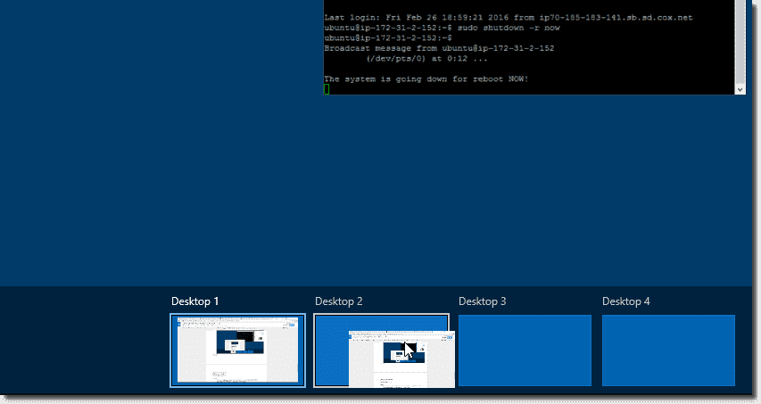How To Use Windows 10 Virtual Desktops Task View 4sysops