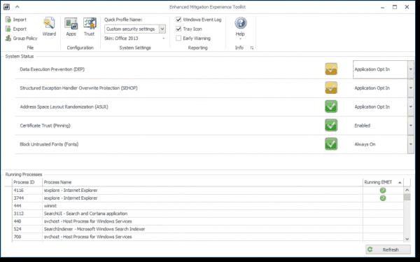 Enhanced Mitigation Experience Toolkit 5.5 on Windows 10