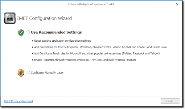 Enhanced Mitigation Experience Toolkit Configuration Wizard