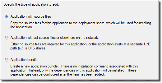Add and remove an application in the Microsoft Deployment