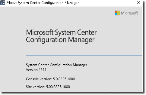 SCCM Version 1511
