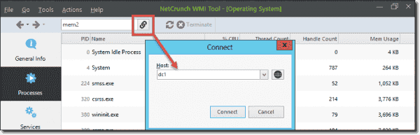The WMI Tools support remote connections over DCOM and RPC