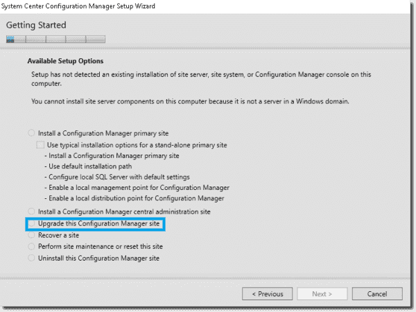 Upgrading to SCCM 1511