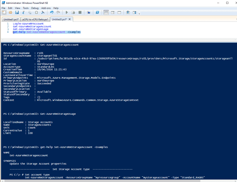Figure 11 Basic AzureRM.Storage Commands