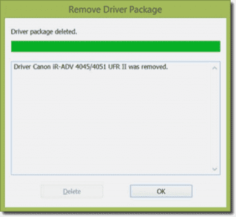 Removing a corrupted Canon print driver