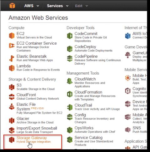 Setting up AWS Storage Gateway-stored volumes